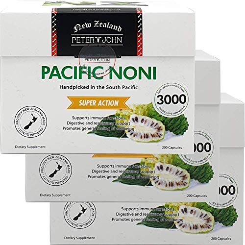 Peter&John Pacific Noni 100% Noni Fruit Powder Herbal-Supplements (3 Pack)