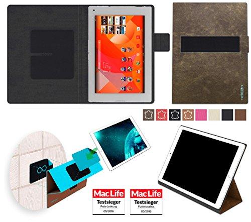 Hülle für Medion Lifetab P8912 Tasche Cover Hülle Bumper | in Braun Wildleder | Testsieger