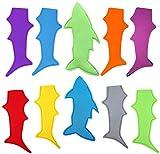 10pcs Shark Popsicle Holders Pop Ice Sleeves Freezer Pop Holders 20x10cm