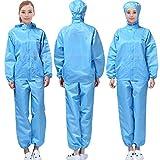 Körper Schutzkleidung Antistatische Jumpsuit staubfreie Kleidung staubfeste Arbeitskleidung Jumpsuit spray-painted industrielle SchutzHülle (L, Light Blau)