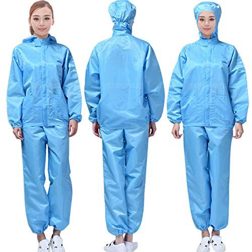 Lichaam beschermende kleding Anti-statische jumpsuit stofvrije kleding stof-proof werk kleding jumpsuit gespoten industriële Protective Coverall (L, Blauwe)