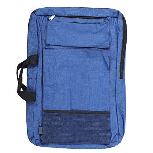 Bolsa de dibujo de arte impermeable, bolsa de dibujo de arte Mochila impermeable Almacenamiento de tablero de dibujo Bolsa de lona multifunción(Azul)