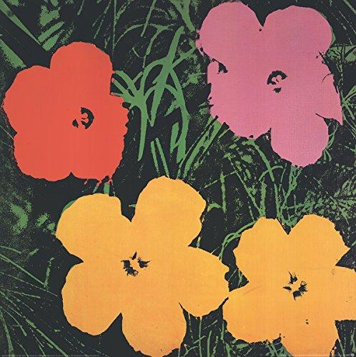 1993de Andy Warhol Póster con diseño de flores (LG)