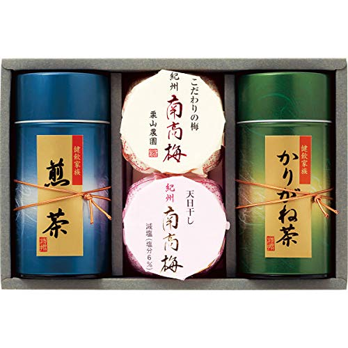 紀州南高梅・静岡銘茶詰合せ お中元お歳暮ギフト贈答品プレゼントにも人気
