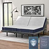 Adjustable Ergonomic Bed with Vibration Massage, Easy Assembly,1A/2A USB Port, Wireless Remote and LED Night Light, 2 Twin XL, Zero Gravity,Two Twin Bed Can Make a King Size Bed