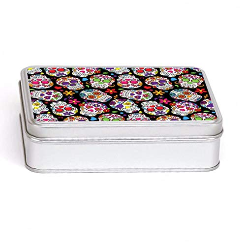 Knutty's Knobs Day of The Dead - Caja de Almacenamiento (Rectangular, 14 x 10 cm), Color Negro