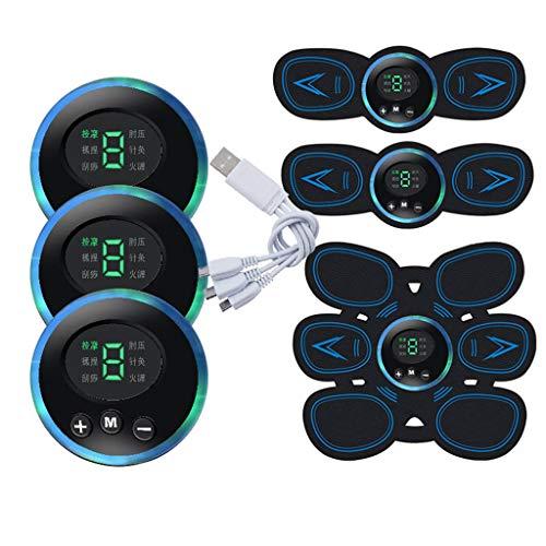 Fitness Equipment Display Digitale Intelligente Otto Pezzi di Adesivi per Muscoli Addominali, Apparecchiature Dimagranti Pigre per La Casa, Stimolatore Muscolare EMS, Unisex