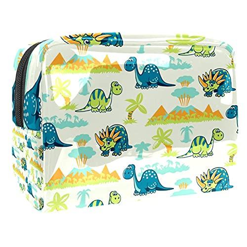 Bolsa de maquillaje portátil para viaje, bolsa de cosméticos, Multi-7, 18.5x7.5x13cm/7.3x3x5.1in,