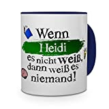 printplanet Tasse mit Namen Heidi - Layout: Wenn Heidi es