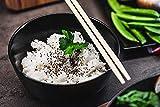 Pintura de diamante 5D arroz jazmín cocido con sésamo negro y palillos chinos Cuadros de bordado de diamantes de imitación de cristal DIY para decoración Pegatinas de pared 40 x 50Cm
