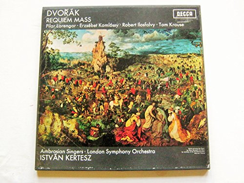 Istvan Kertesz Dvorak Requiem Mass 2LP Decca SET416-17 EX/EX 1970s double LP boxed with booklet , one LP is wide band and the other is narrow band