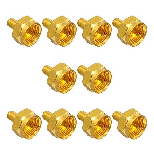 10x F-Abschlusswiderstand 75 Ohm F-Kupplung SAT Vergoldet breite Mutter für Mutischalter LNB Verteiler HB-Digital