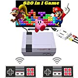 HD 620 Retro Game Console, Mini Classic Game System with 2 NES Classic Wireless Controllers and Built-in 620 Games, AV Output and HDMI HD Output Plug & Play Childhood Mini Classic Console, Birthday Gifts.