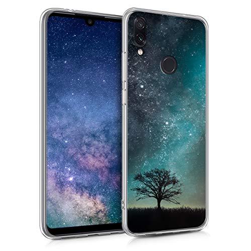 kwmobile Xiaomi Redmi Note 7 / Note 7 Pro Hülle - Handyhülle für Xiaomi Redmi Note 7 / Note 7 Pro - Handy Case in Galaxie Baum Wiese Design Blau Grau Schwarz