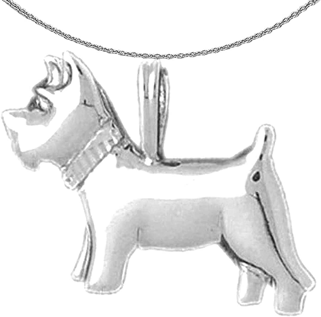 Jewels Obsession 70% OFF Outlet Gold Terrier Dog Necklace Terr White 14K Fashionable