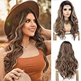 K'ryssma Brown Ombre Lace Front Wig with Dark...