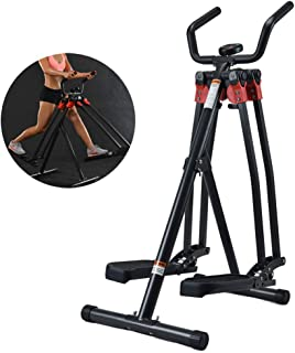 Air Walker Lower Limb Trainer, with LCD Display Small Left And Right Swing Trainer Exercise Home Fitness for Middle-Aged A...