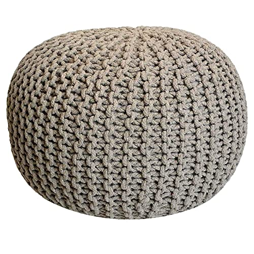 Taburete Knitting Pouf