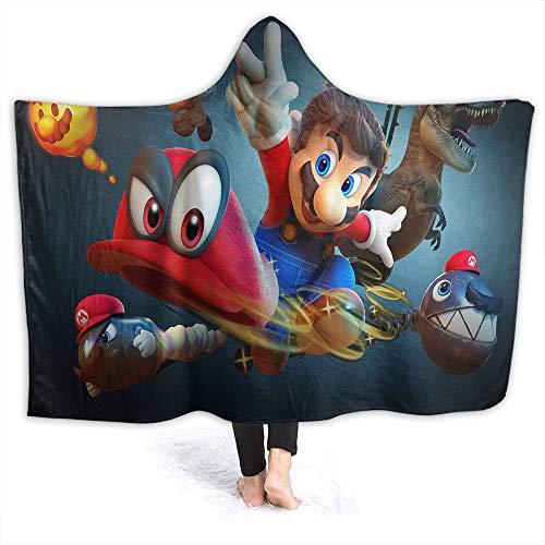 Super Mario Odyssey - Manta de forro polar para niños y adultos, Franela, Super-mario-odisey138, 60 x 50 inch