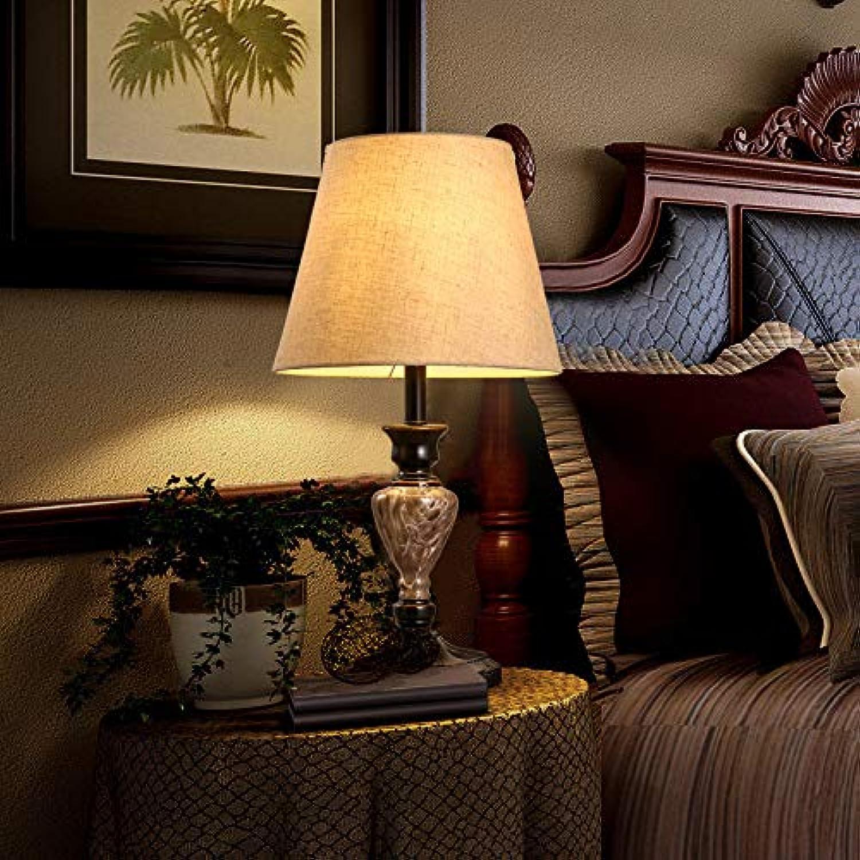 Yetta Home Amerikanisches Land Retro Schlafzimmer Nacht Garten kreative europäischen Knoten Hotel Schlafzimmer Nachttisch Lampe B07P3H4NN2 | Wirtschaft