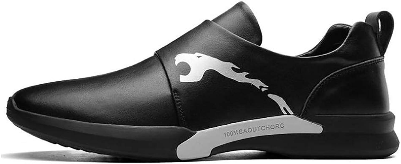 Jiedi herrar skor läder Springaa Fall Comfort skor springaning springaning springaning skor for Casual svart  billigare