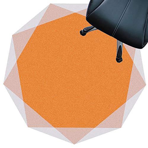 protector de suelo para silla de oficina, Protector De Piso Para Escritorios, Oficina Y Hogar, Tapete Antideslizante, Silencioso, Resistente Al Desgaste, Fácil De Lim(Color:naranja,Size:120cm(47.2in))