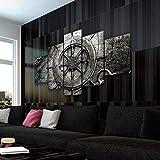 45Tdfc 5 Piezas Cuadro de Lienzo - Collage náutico Vintage v3 Pintura 5 Impresiones de imágenes Decoración de Pared para el hogar Pinturas y Carteles de Arte HD 200cmx100cm Sin Marco