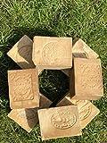 Flora Sense Original Aleppo Soap Set 200g, 50%- 50% olio di alloro e olio d'oliva, sapone per il viso, sapone per la doccia, eczema, psoriasi, prodotto artigianale, stagionato per 7 anni