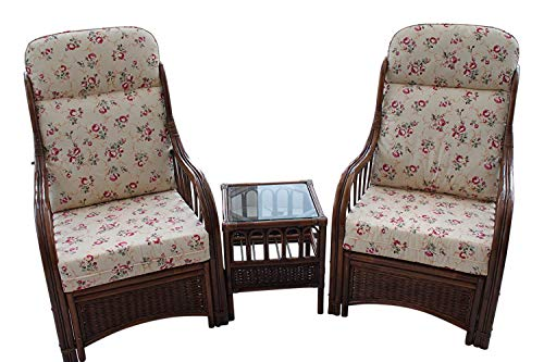Garden Market Place Verona-Juego de 2 sillas y Mesa Auxiliar, diseño de Rosa, 119 X 80 X99