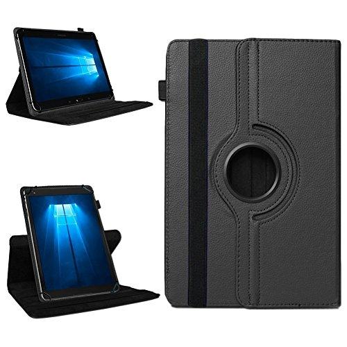 NAmobile Tablet 360° Drehbar Hülle für Odys Wintab Ares 9 Tasche Schutzhülle Hülle Cover, Farben:Schwarz