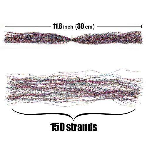 XFISHMAN Fly Tying Materials 12 Colors Krystal Flash Holographic Ripple Flashabou Flies Fishing Lure Making Supplies (2-Dubbin Crystal Flash Set B)