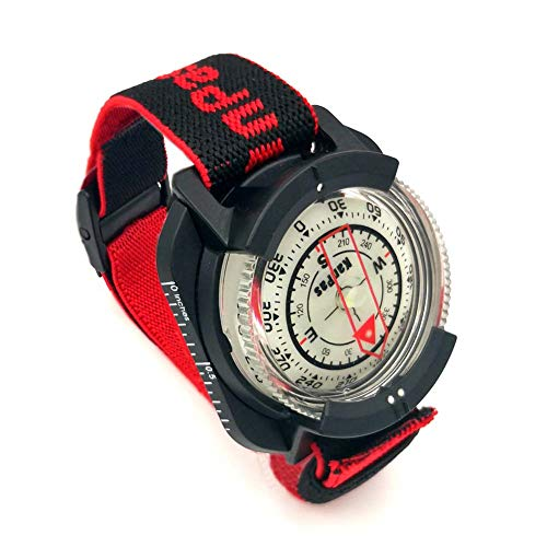 Diving Sighting Wrist Compass for Outdoor Orienteering Mountaineering Hiking