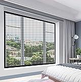 Cortina de pantalla magnética Autoadhesiva de fibra de vidrio para ventana Malla de malla Mosquitera, Reemplazo de material de pantallas de ventana, Mantiene a los insectos fuera de los insectos, Ade