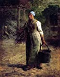 Art Oyster Jean-Francois Millet Woman Carrying Firewood and a Pail - 21
