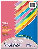 Pacon カードストック カラフルなジャンボ詰め合わせ 10色 8-1/2インチ x 11インチ 250枚