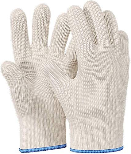 Killer's Instinct Outdoors 1pair Heat Resistant Gloves Oven Gloves Heat Resistant With Fingers Oven Mitts Kitchen Pot Holders Cotton Gloves Kitchen Gloves Double Oven Mitt Set Oven Gloves With Fingers