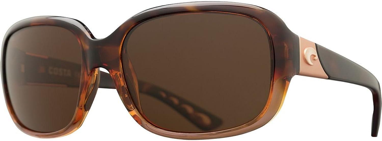 Costa Del Mar Gannet 580G Gannet, Shiny Tortoise Frame Fade Copper, Copper
