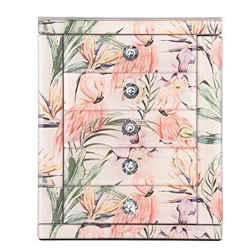 Joyero con diseño de impresión de gran capacidad, decoración de mesa con...