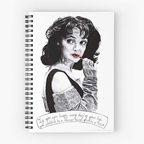 Actress Famous Celebrity Actors 80S Winona Ryder Eighties Heathers Cahier à spirale cinq étoiles mignon avec impression durable