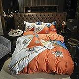 juegos de sábanas de 90 de oferta,Summer Cool Camas transpirables, Minimalistic European Gran versión del requisito impreso Down Quilt Set, pero conjuntos de cinturón de cama de cama doble, regalo de