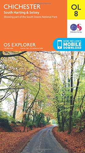 OS Explorer OL8 Chichester, South Harting & Selsey (OS Explorer Map)