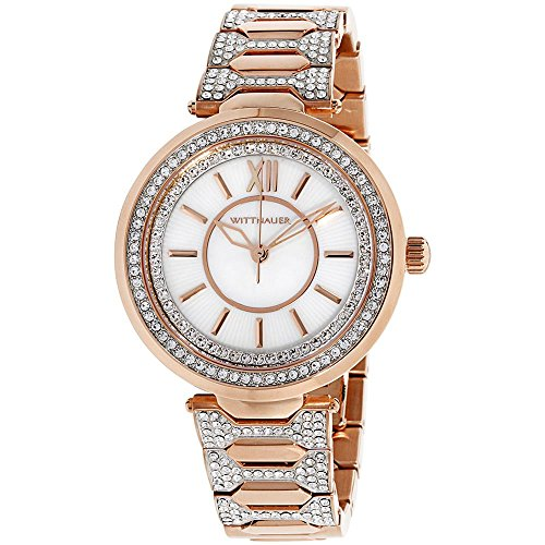 Wittnauer WN4025 Taylor Crystal Accent donna rose gold-tone stainless...