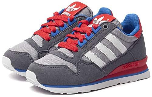 adidas Jungen Schuhe ZX 500 K (40 EU, Grau/Rot)