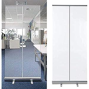 KMILE – Protezione per starnuti da pavimento, trasparente, pop up per starnuto, divisorio per igiene portatile, per isolamento dei supporti estraibili, per ufficio, negozi