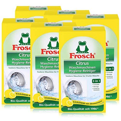 Frosch Citrus Waschmaschinen Hygiene-Reiniger, 6er Pack(6 x 250 g)