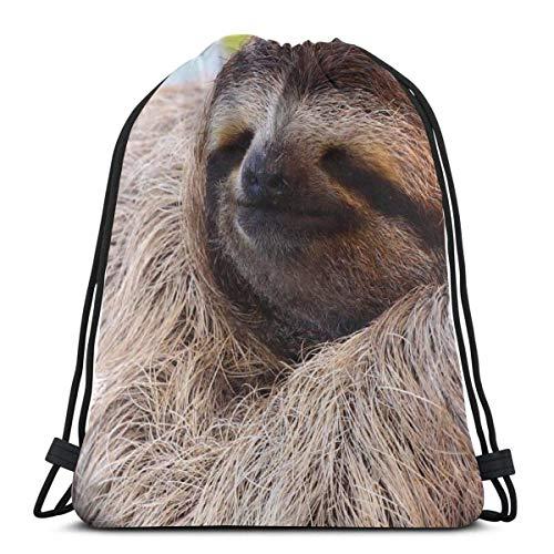 LREFON Gym Kordelzug Taschen Rucksack Schlafsack Packtasche Für Sport Aufbewahrung Schuh Veranstalter Schule Schulter Shopping Kinder
