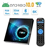 Android TV Box 10.0, T95 Android Box with 4GB RAM 32GB ROM Allwinner