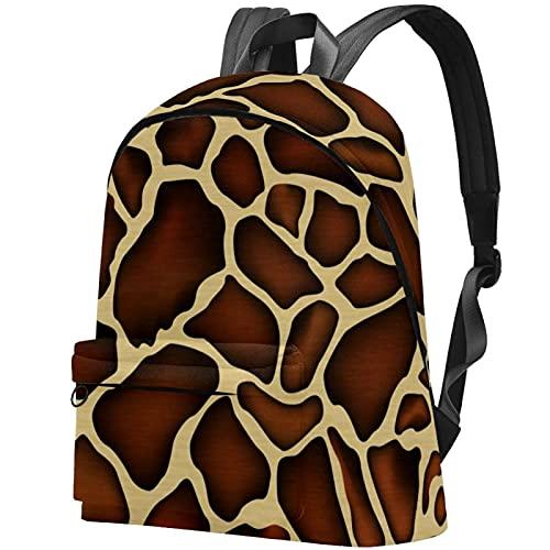 Staroutah zaino bookbag daypack borsa da scuola escursionismo Laptop backpacking Borsa da viaggio all'aperto ad alta capacità e moda Borsa da lavoro Modello della pelle della giraffa vivace