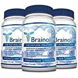 Brainol - The Smartest Choice for a Brain Boosting Nootropic. Enhance Mental Performance, Focus & Clarity - with DMAE, Huperzine A & More. 180 Capsules (3 Month Supply).