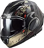 Casque moto LS2 FF900 VALIANT II GRIPPER MATT ANTIQUE GOLD, Noir/Or, XS